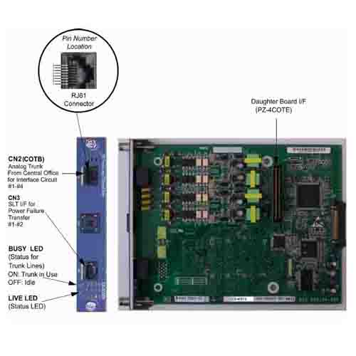 CD-4COTA - 4 Port Central Office Trunk Blade (Loop-start) (SV8100)