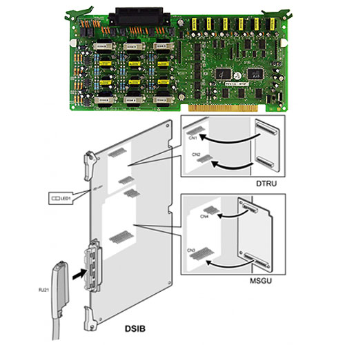D100-DSIB.ST - DTK (6 ports) / SLT (6 ports) interface board