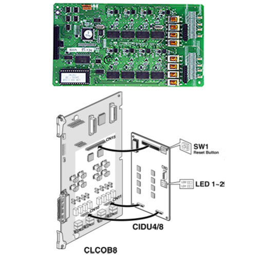 D300-CIDU8.STG - CID interface unit (8 ports) for CLCOB8, FSK