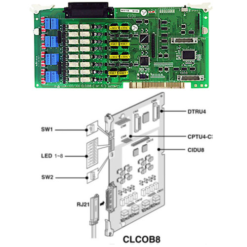 D300-CLCOB8.STG - LCO interface with CID option (8 ports)