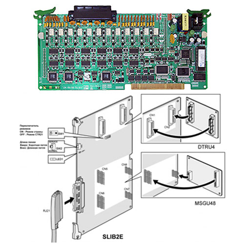 D300-SLIB2E - SLT (12 ports) interface board, -28V