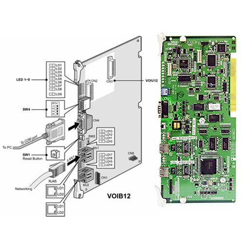 D300-VOIB12.STG - Voip interface board (12 ports) + 1 slot for VOIU12