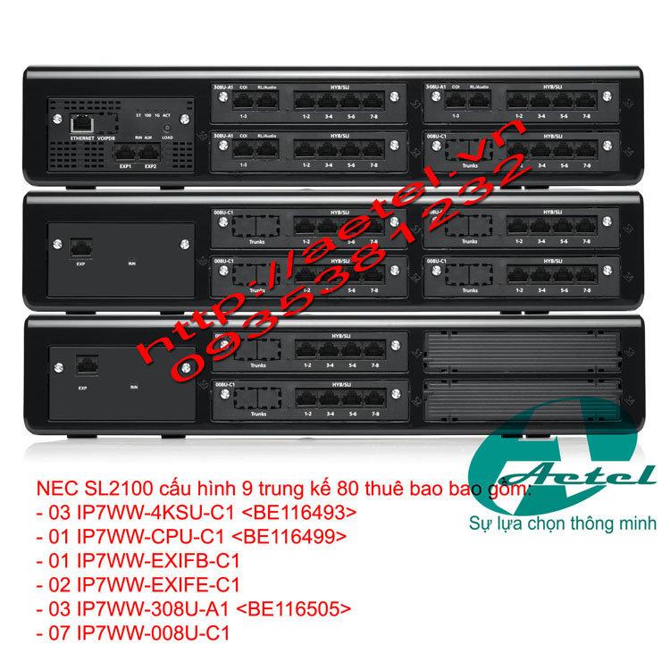 tổng đài điện thoại NEC SL2100, tong dai dien thoai